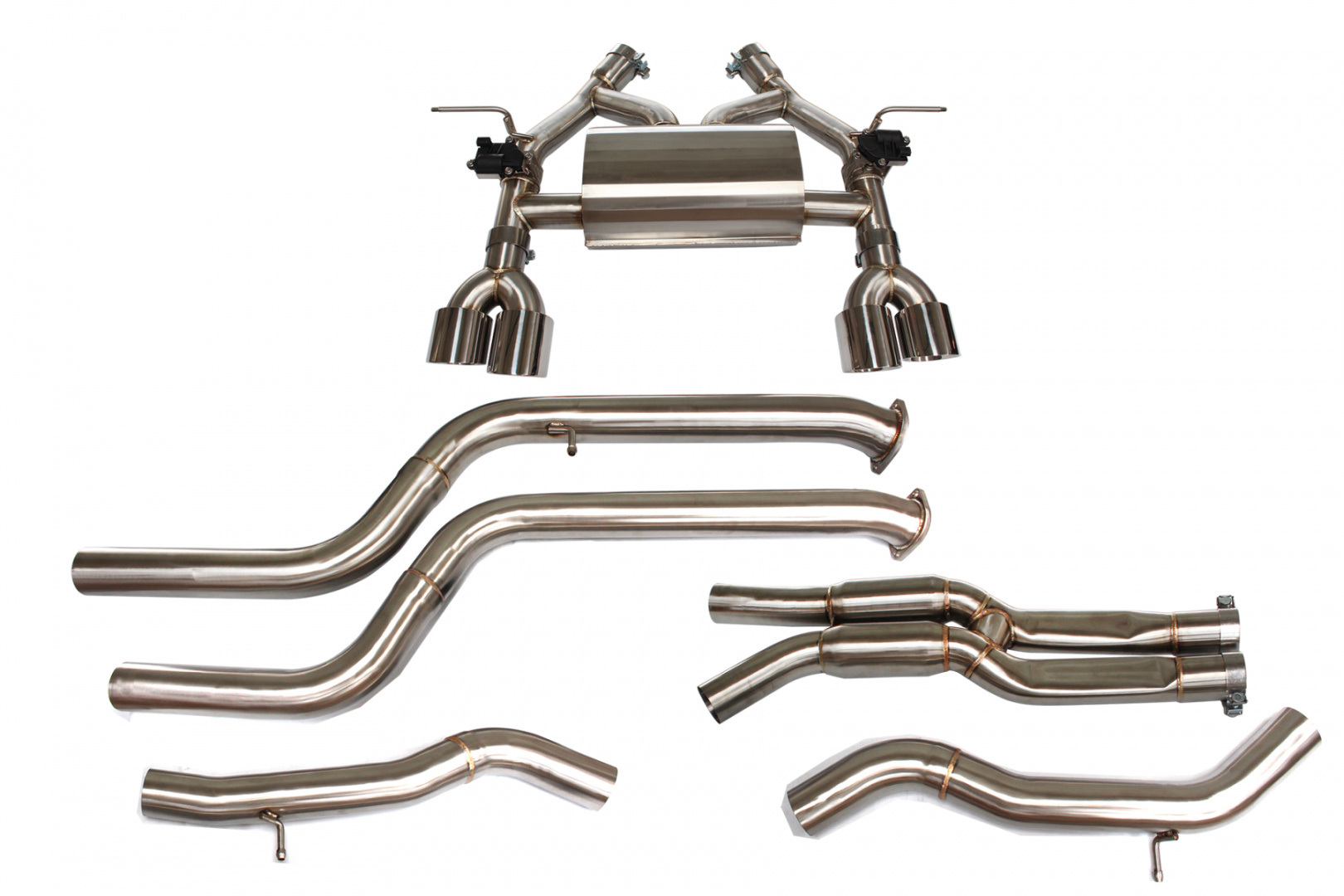 Aktywny układ wydechowy CatBack BMW M3/M4 F80/F82/F83 3.0T 13+ - GRUBYGARAGE - Sklep Tuningowy